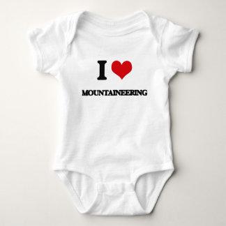 I Love Mountaineering Baby Bodysuit