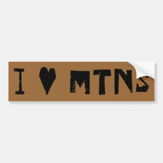 I Love Mountains Bumper Sticker