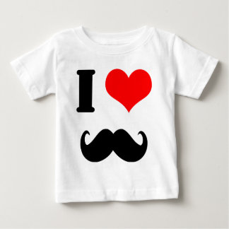 I love moustache baby T-Shirt