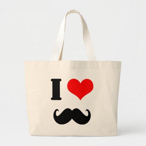 I love moustache canvas bags