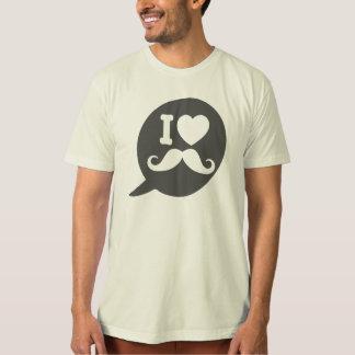 I love Moustache - bubble Tee Shirts