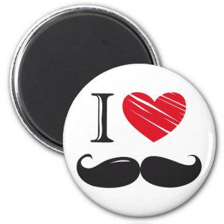 I Love MOUSTACHE Magnets