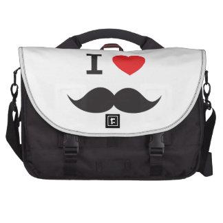 I Love Moustache messenger bag Commuter Bag