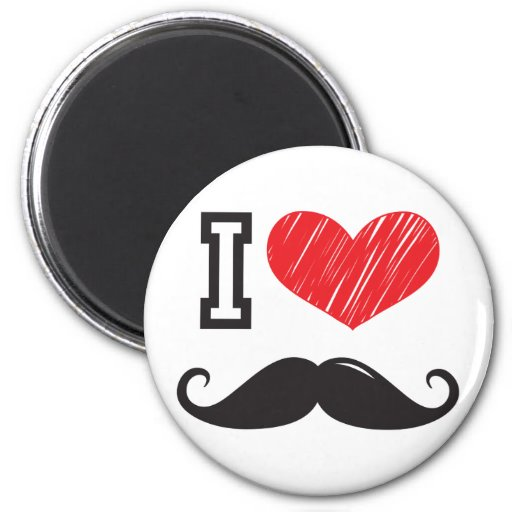 I Love MOUSTACHE Nr 2 Magnets