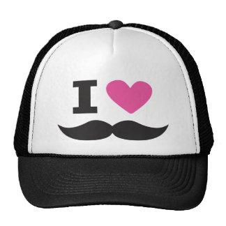I Love Moustache - pink Cap