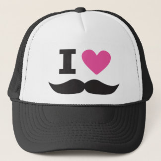 I Love Moustache - pink Trucker Hat