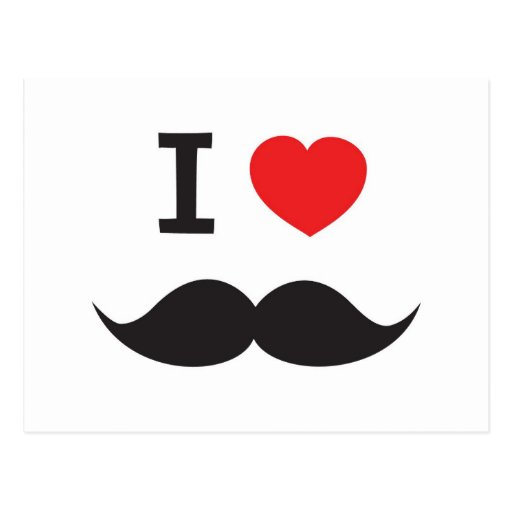 How to draw i love mustache
