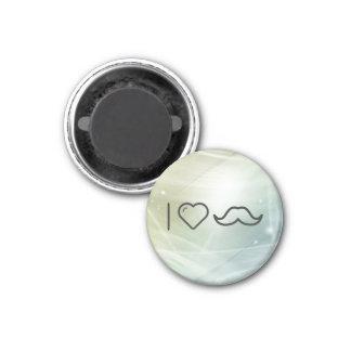 I Love Moustaches 3 Cm Round Magnet