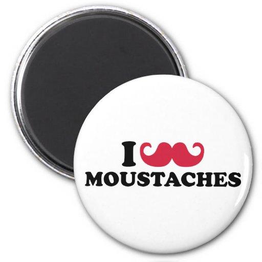 I love Moustaches Fridge Magnet