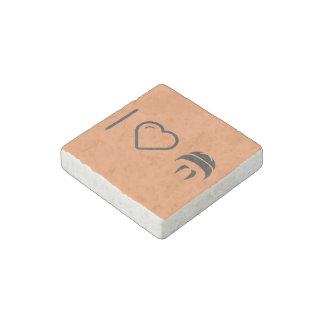 I Love Moustaches Stone Magnet