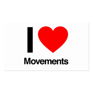 i love movements business card template