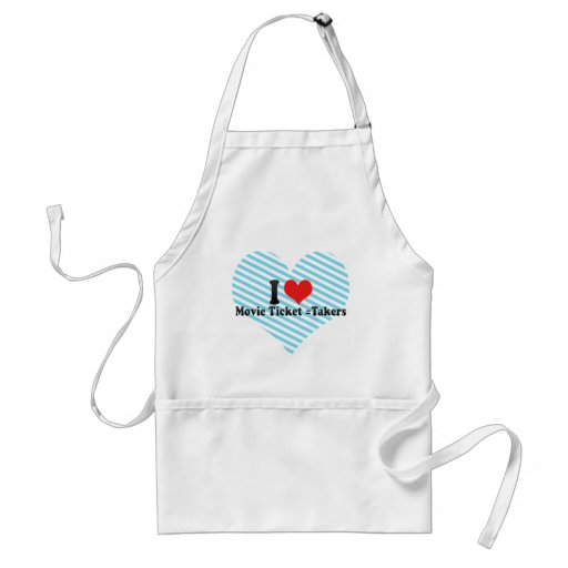 I Love Movie Ticket =Takers Apron