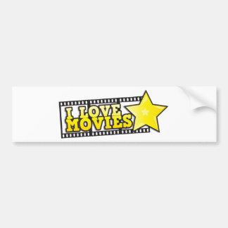 I love movies car bumper sticker