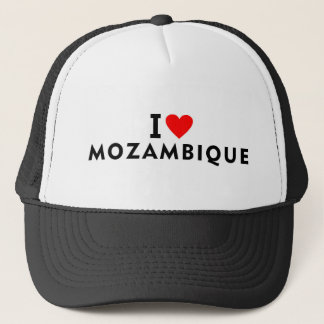 I love Mozambique country like heart travel touris Trucker Hat