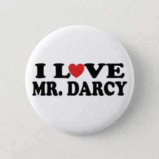 I Love Mr. Darcy 6 Cm Round Badge