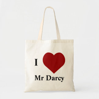I love Mr Darcy Budget Tote Bag