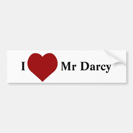 I love Mr Darcy Bumper Stickers