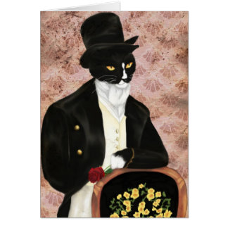 I Love Mr. Darcy Romantic Cat Card