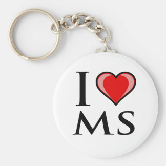 I Love MS - Mississippi Key Ring