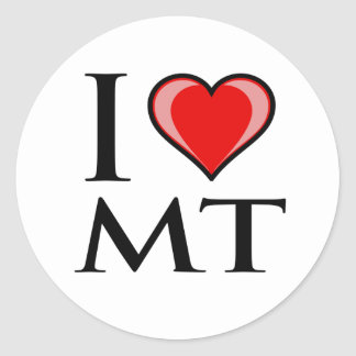 I Love MT - Montana Classic Round Sticker