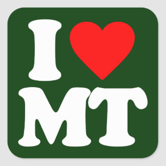 I LOVE MT SQUARE STICKER