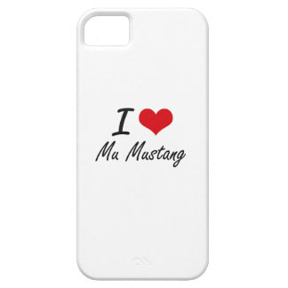 I Love Mu Mustang Barely There iPhone 5 Case