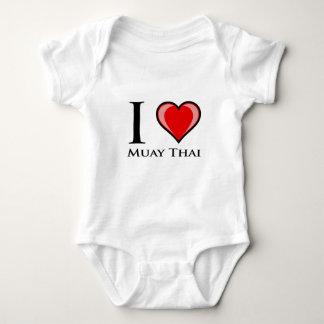 I Love Muay Thai Baby Bodysuit
