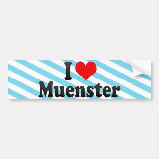 I Love Muenster Bumper Sticker