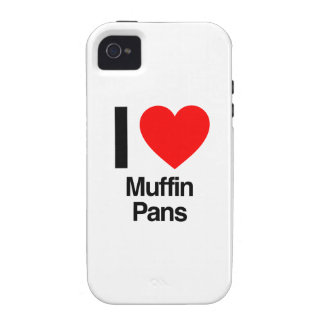i love muffin pans Case-Mate iPhone 4 cases