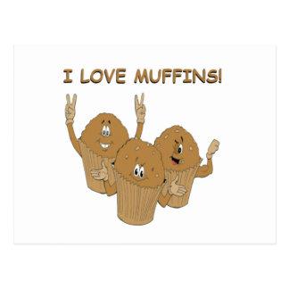 I Love Muffins! Postcard