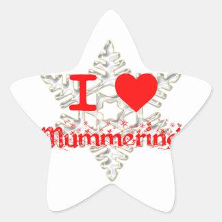 I LOVE MUMMERING SNOWFLAKE STAR STICKER