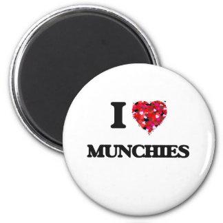 I Love Munchies 6 Cm Round Magnet