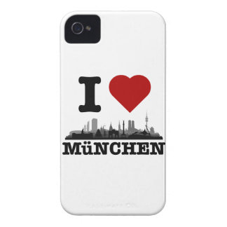 i love Munich city of skyline - Blackberry bowl iPhone 4 Cases