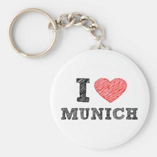 I Love Munich Keychains