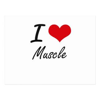 I Love Muscle Postcard