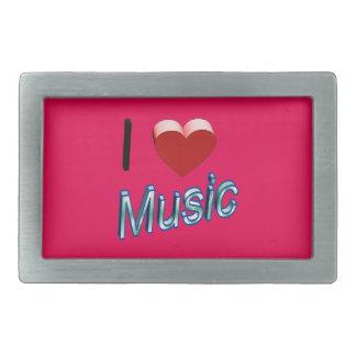 I Love Music 2 Belt Buckle