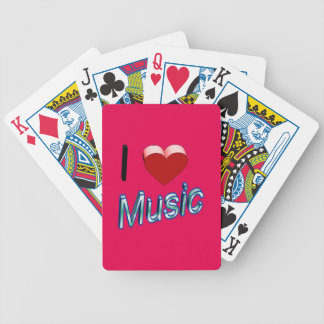 I Love Music 2 Bicycle Playing Cards