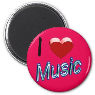 I Love Music 2 Magnet