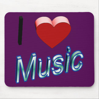 I Love Music 2 Mouse Pad