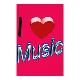 I Love Music 2 Stationery