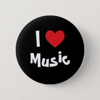 I Love Music 6 Cm Round Badge