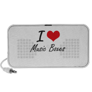 I Love Music Boxes Laptop Speaker
