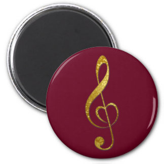 I love music - cards, stickers, postage 6 cm round magnet