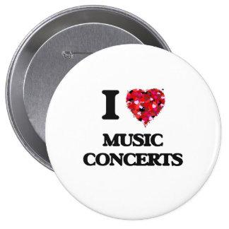 I Love Music Concerts 10 Cm Round Badge