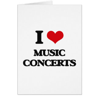I Love Music Concerts Greeting Card