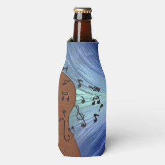 I Love Music Guitar Bottle and Can Cooler