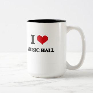 I Love MUSIC HALL Coffee Mugs