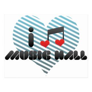 I Love Music Hall Post Card