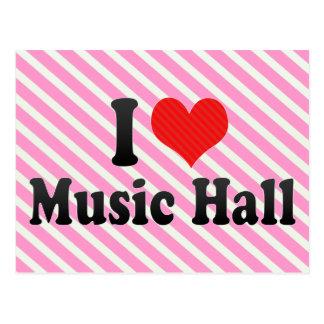 I Love Music Hall Postcards