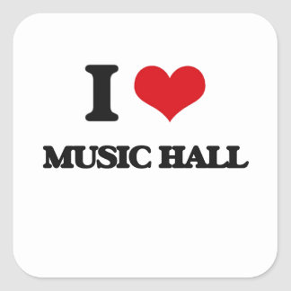 I Love MUSIC HALL Stickers